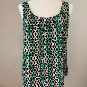 Dana Buchman Sleeveless Top Chain Pattern Medium